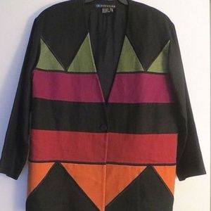 VTG I. B. DIFFUSION OVER SIZED  LINEN JACKET for sale
